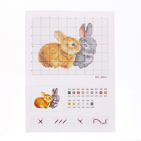 Набор для вышивания 26*20,5см Крольчата MY8823 купить оптом и в розницу