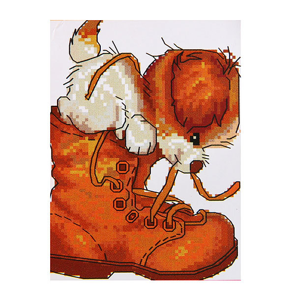 Набор для вышивания 26*20,5см Щенок в ботинке MY8832 купить оптом и в розницу