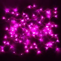 Гирлянда светодиодная 3,4м, 36 ламп LED, Розовый, 8 реж, прозр.пров. купить оптом и в розницу