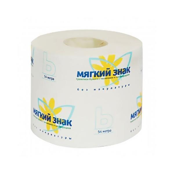 Бумага туалетная 1сл 1рул. ″Ь″ 470 л. бел. (32) С28 купить оптом и в розницу