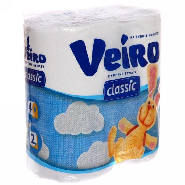 Бумага туалетная 2сл 4рул. ″Linia Veiro″ белая купить оптом и в розницу