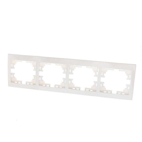 Рамка 4-ая горизонтальная белая MIRA 701-0300-148 (Р) купить оптом и в розницу