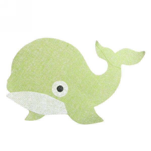 Салфетка на стол 53*34см плетеная, Дельфин зеленая купить оптом и в розницу