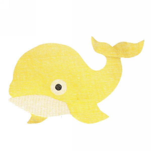 Салфетка на стол 53*34см плетеная, Дельфин желтая купить оптом и в розницу