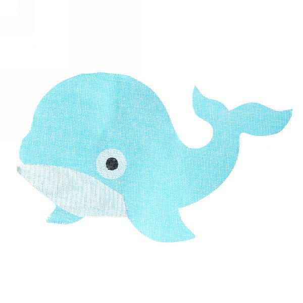 Салфетка на стол 53*34см плетеная, Дельфин голубая купить оптом и в розницу