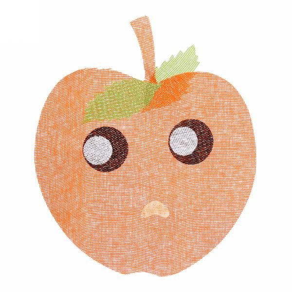 Салфетка на стол 40*48см плетеная, Яблоко оранжевая купить оптом и в розницу