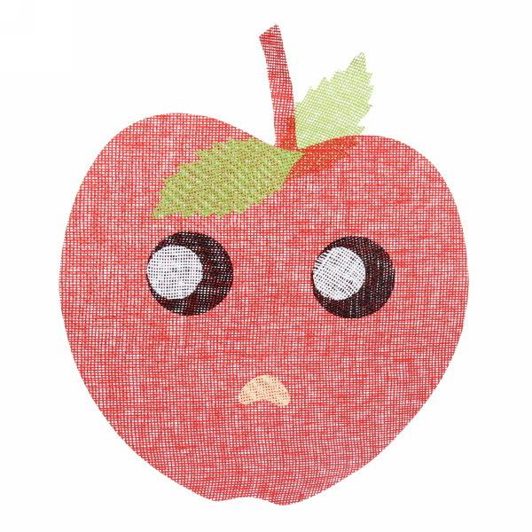 Салфетка на стол 40*48см плетеная, Яблоко красная купить оптом и в розницу