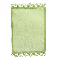 Салфетка на стол 30*40см плетеная, Ажур зеленая купить оптом и в розницу