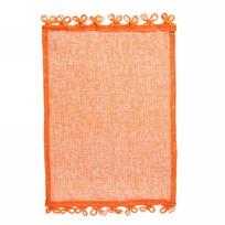 Салфетка на стол 30*40см плетеная, Ажур оранжевая купить оптом и в розницу