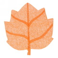 Салфетка на стол 40*38см плетеная, Кленовый лист оранжевая купить оптом и в розницу
