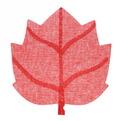 Салфетка на стол 40*38см плетеная, Кленовый лист красная купить оптом и в розницу