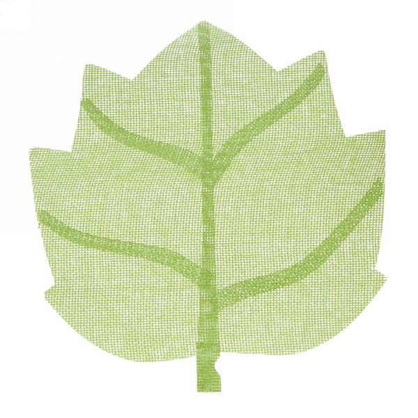 Салфетка на стол 40*38см плетеная, Кленовый лист зеленая купить оптом и в розницу