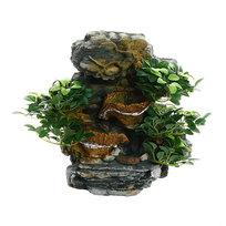 Фонтан из полистоуна ″Деревья на скалах″ 32*14*38см настенный 206-S купить оптом и в розницу
