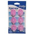 Набор крючков с липким слоем Селфи 9906-1 (6шт., нагрузка 1.5кг) фиолетовый купить оптом и в розницу