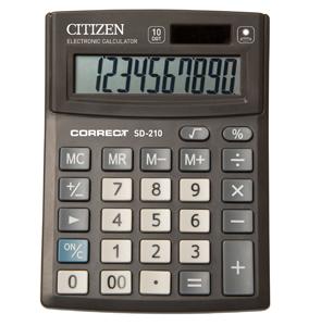 Калькулятор CITIZEN Correct настольный 10раз 103*138*24мм купить оптом и в розницу