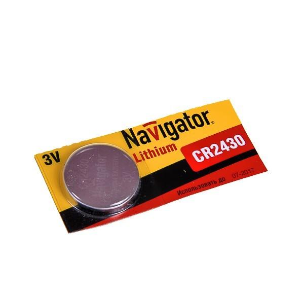 Элемент питания Navigator NBT-CR2430-BP5 1шт 3В (20/500) 94781 купить оптом и в розницу