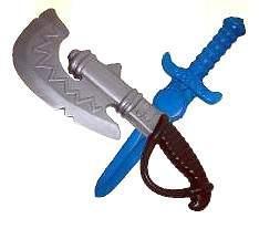 Набор оружия 50010 (секира + кинжал) Плейдорадо /40/ купить оптом и в розницу