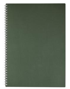 """Тетрадь А4 80л.кл.гребень HATBER, """"METALLIC Темно-зеленая"""", пласт.обложка купить оптом и в розницу"""