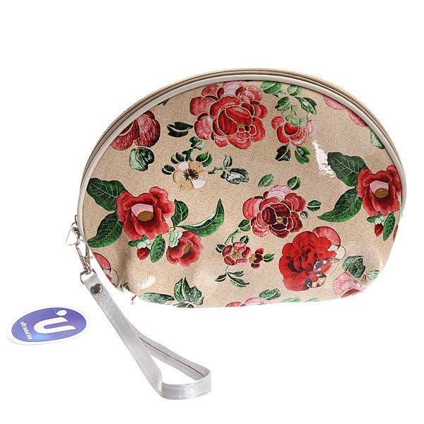 Косметичка, лакированная эко-кожа ″Розы″ лаковая 14,5*21*7,5 купить оптом и в розницу