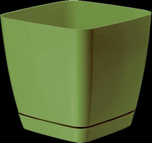 Кашпо Тоскана квадр .оливковый  13 1,7 л. *10 Form plastic купить оптом и в розницу