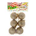 Новогодние шары 5 см ″Золото″ набор 6 шт купить оптом и в розницу