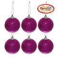 Новогодние шары ″Аметист″ 5см (набор 6шт.) купить оптом и в розницу