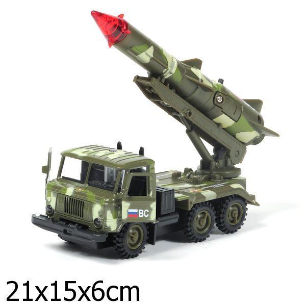 Модель 1299СТ-R-3 Газ 66 ракета, ВС металл. свет+звук в кор. купить оптом и в розницу