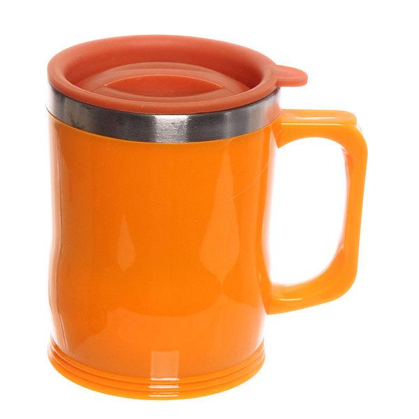 Термокружка 450 мл ″Селфи″ оранжевая купить оптом и в розницу