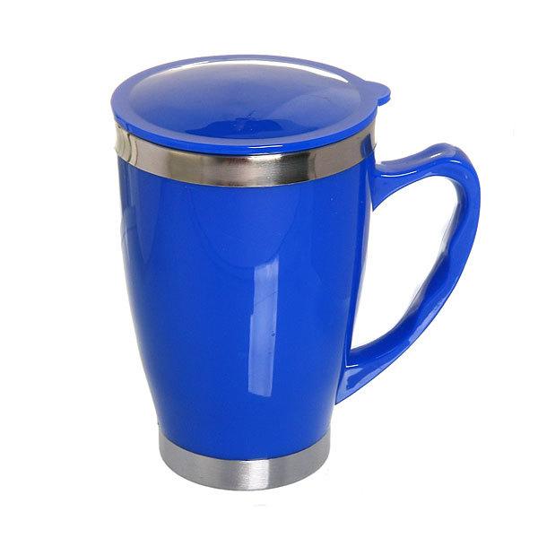 Термокружка 450 мл ″Селфи″ синия купить оптом и в розницу
