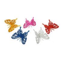 Ёлочная игрушка ″Бабочка″ с зажимом (в упаковке 5 шт) купить оптом и в розницу