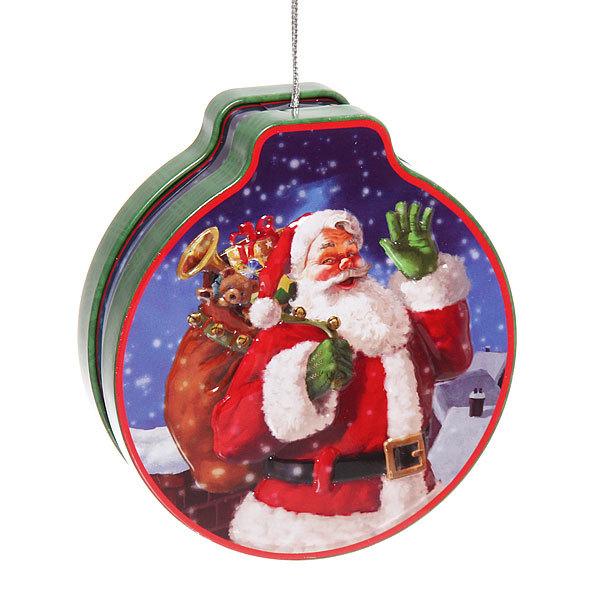 Банка жестяная 200мл ″Дед мороз″ двухсторонняя купить оптом и в розницу