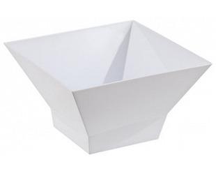 """Салатник """"Domino Kvadro"""" 1,4 л (снежно-белый) *40 купить оптом и в розницу"""