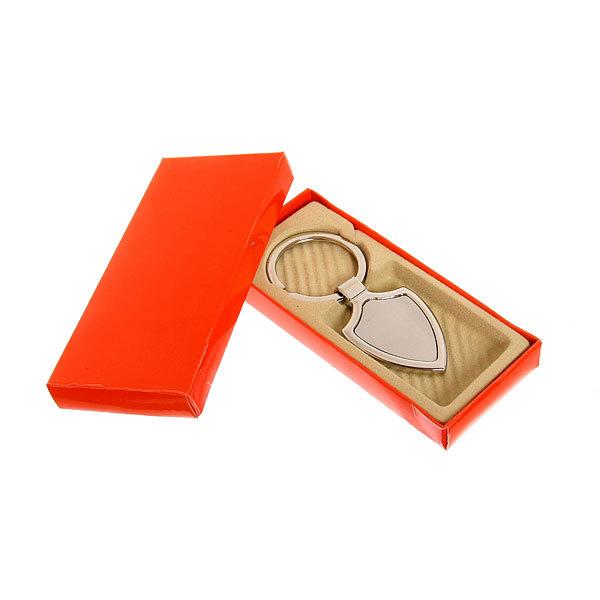 Брелок металлический в коробочке под гравировку №9, 4см купить оптом и в розницу