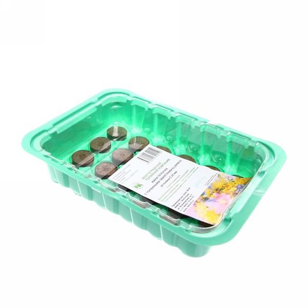 Мини-теплица 24 ячейки с торфяными таблетками 27 мм Ellepress купить оптом и в розницу