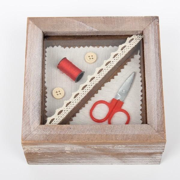 Шкатулка ″Для швейных принадлежностей″ 12,6*12,6*5,5 см В купить оптом и в розницу