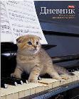 """Дневник д/муз.шк.мягк.обл.HATBER, """"Котенок на пианино"""" купить оптом и в розницу"""