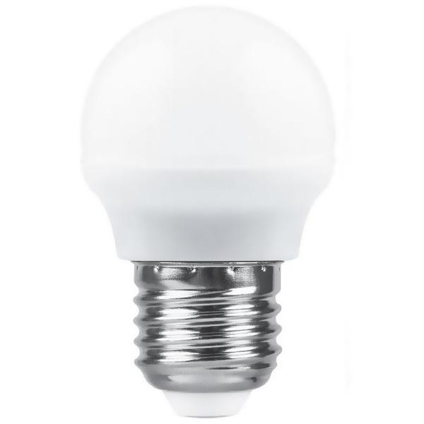 Лампа светодиодная ШАР 5 Вт E27 4000K 400Lm матовый SAFFIT мини SBG4505 Feron купить оптом и в розницу