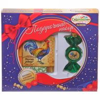 Набор магнит и елочная игрушка-конфетка ″На удачу!″, Живописный петушок купить оптом и в розницу