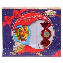 Набор магнит и елочная игрушка-конфетка ″С новым годом!″, Сказочный петушок купить оптом и в розницу