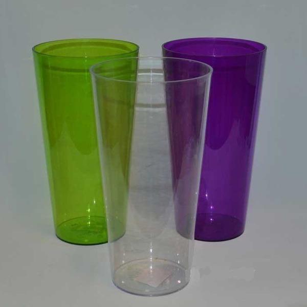 Кашпо Туба Вулкано с вкладышем фиолет 15х28 см*5  Form plastic купить оптом и в розницу