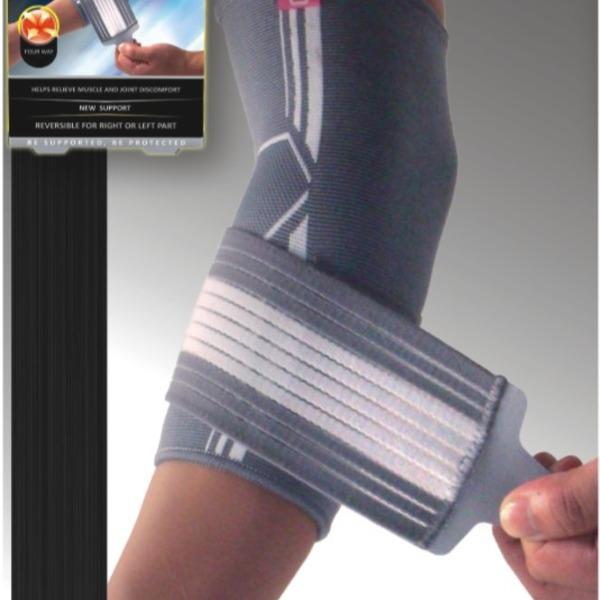 Неопреновый фиксатор локтевого сустава с регулировкой сжатия купить оптом и в розницу
