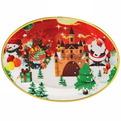 Поднос пластиковый ″Дед Мороз и снеговик″ 34*25см купить оптом и в розницу