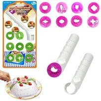 Набор фигурных печатей для мастики и марципана, 9 предметов NEW, DH80-198 купить оптом и в розницу