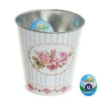 Кашпо для цветов ″Розы″ 10,5х10,5см 13-1299 купить оптом и в розницу