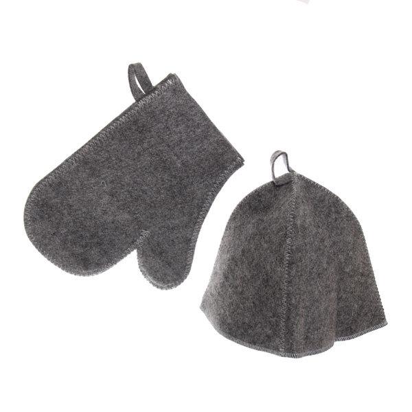 Набор (2 предмета: шапка, рукавица) П/Ш серый Эконом купить оптом и в розницу