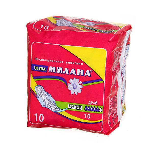 Прокладки женские Милана Ультратон. МАКСИ драй+гель 10шт (5кап) купить оптом и в розницу