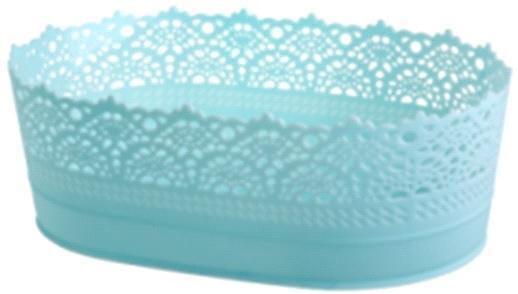 Корзинка овальная (код 4403) голубой*30 купить оптом и в розницу