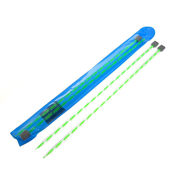 Спицы вязальные прямые акриловые 6мм 34см цветные купить оптом и в розницу