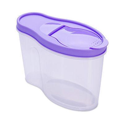 Контейнер пластиковый пищевой ″Альто″ 1,4л для сыпучих продуктов в ассортименте С282 купить оптом и в розницу