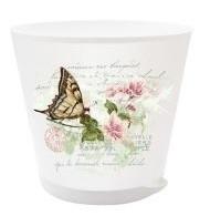 Горшок для цветов Крит D 160 mm с системой прикорневого полива 1,8 л Прованс 16 купить оптом и в розницу